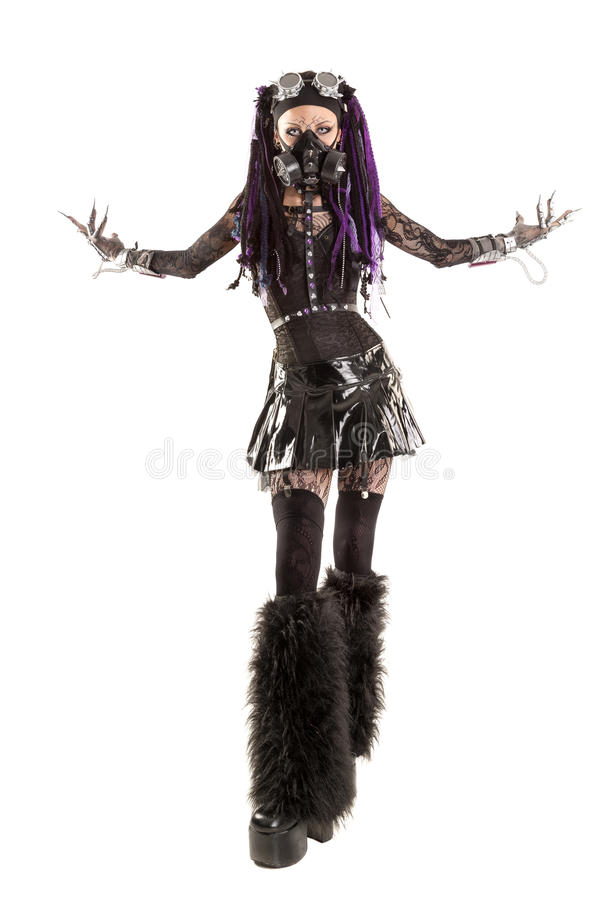 Download Cyber-Gothic girl stock photo. Image of fantasy, pretty - 79030938