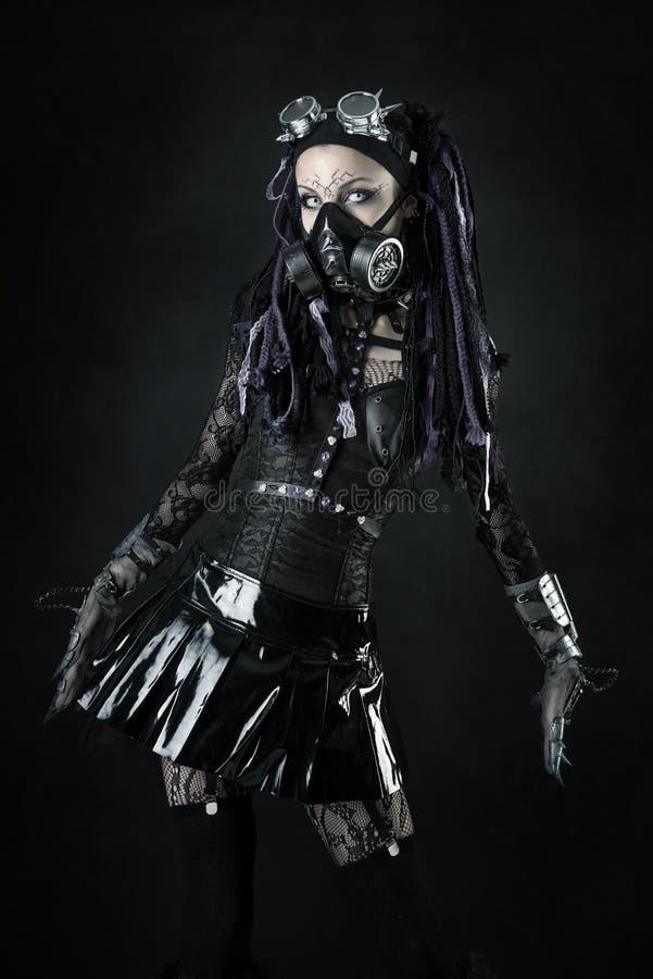 Cyber-gotisch meisje royalty-vrije stock fotografie