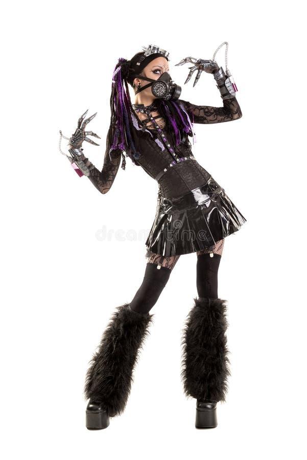 Cyber-gotisches Mädchen stockbild