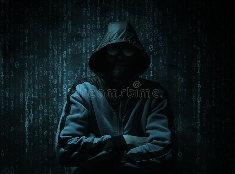 Cyber hacker concept royalty free stock images