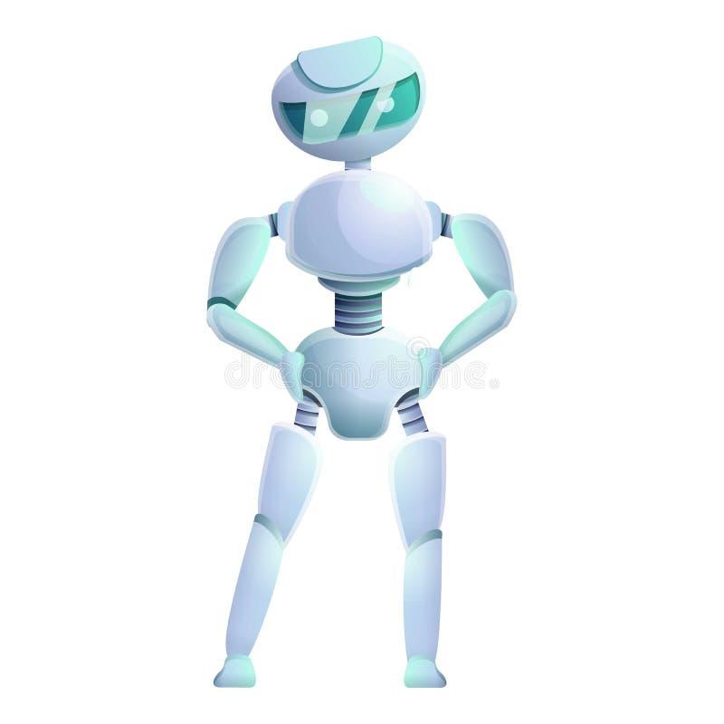 Cyber humanoid ikona, kreskówka styl royalty ilustracja
