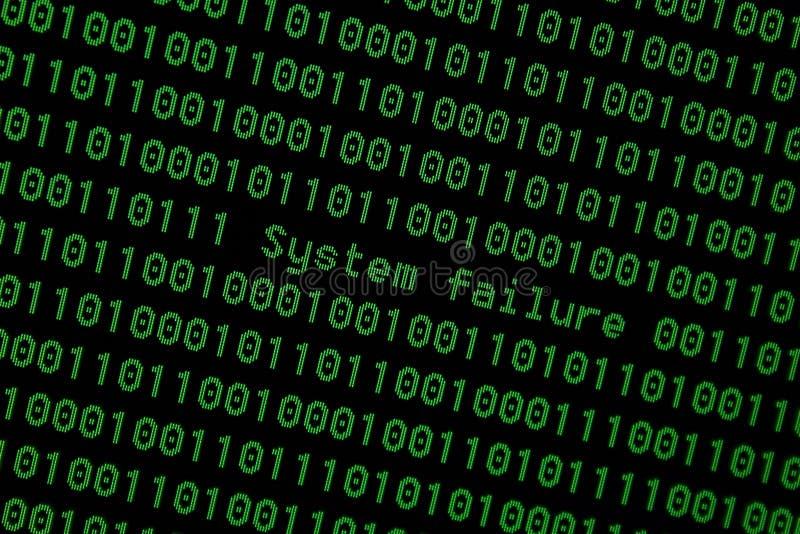 Cyber inciso sistema del file binario 01 fotografia stock