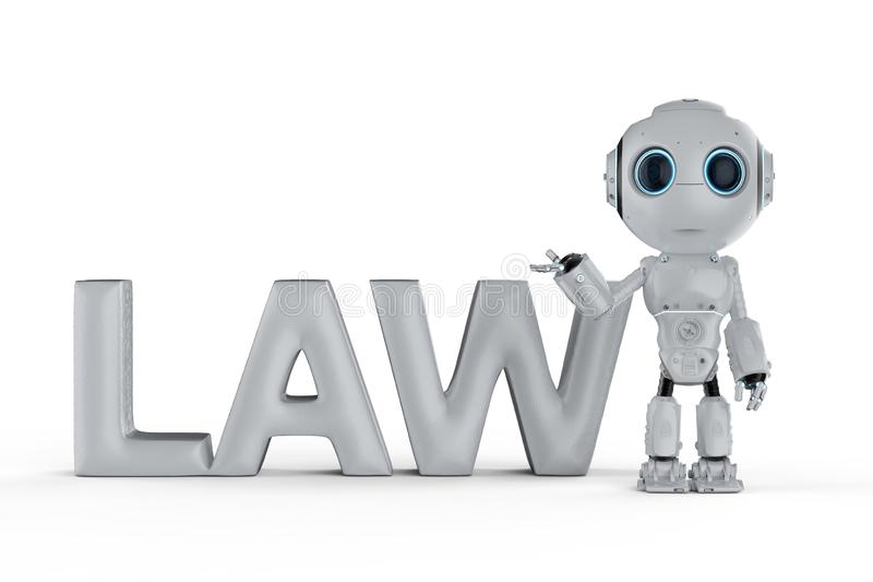 Cyber law concept stock illustration