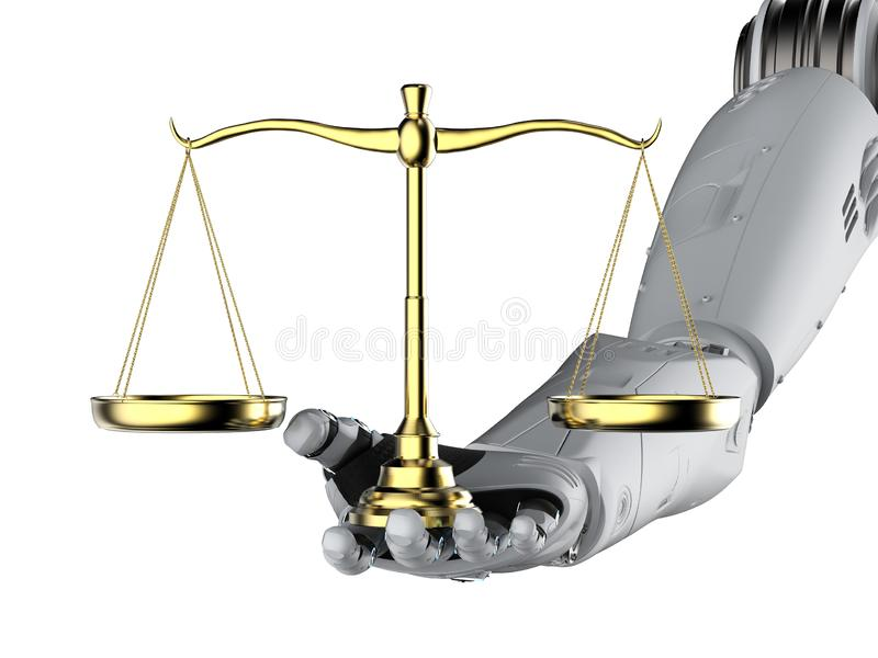 Cyber law or internet law concept stock illustration