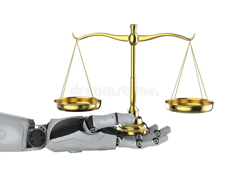 Cyber law or internet law concept royalty free illustration