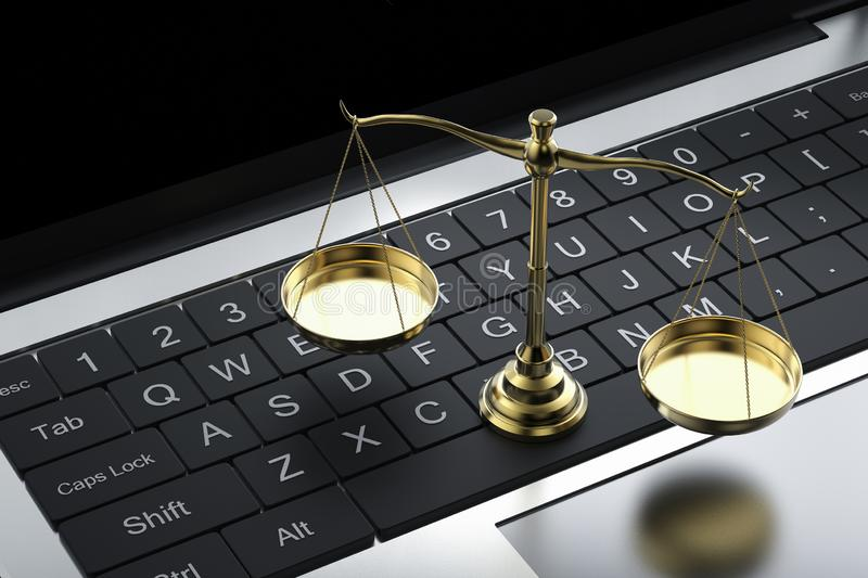 Cyber law or internet law concept royalty free stock photos