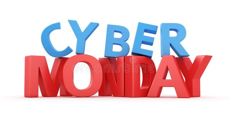 Cyber lundi illustration stock