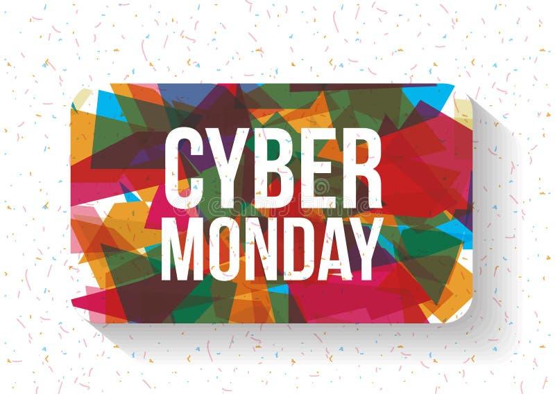 Cyber lundi et conception de commerce électronique illustration stock