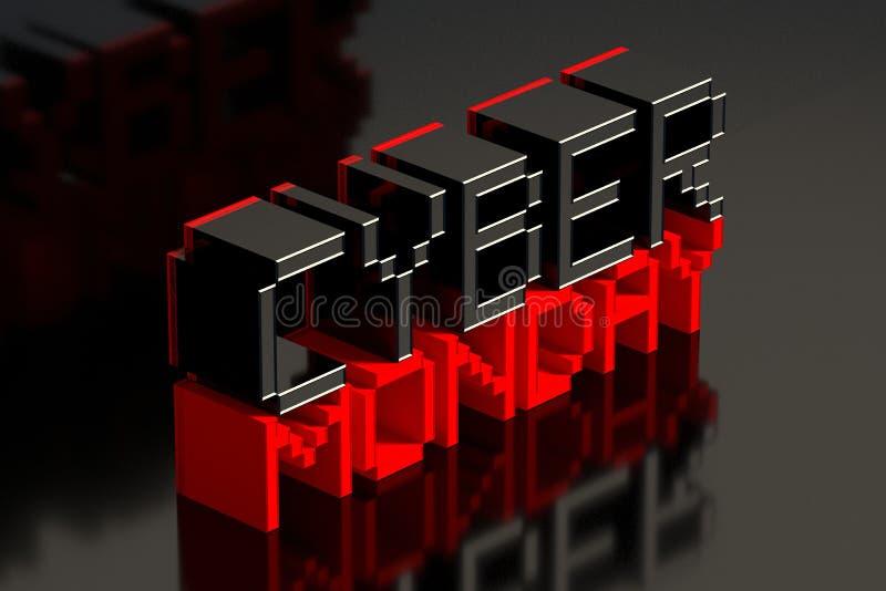Cyber lundi sur le fond reflété noir illustration 3D illustration stock