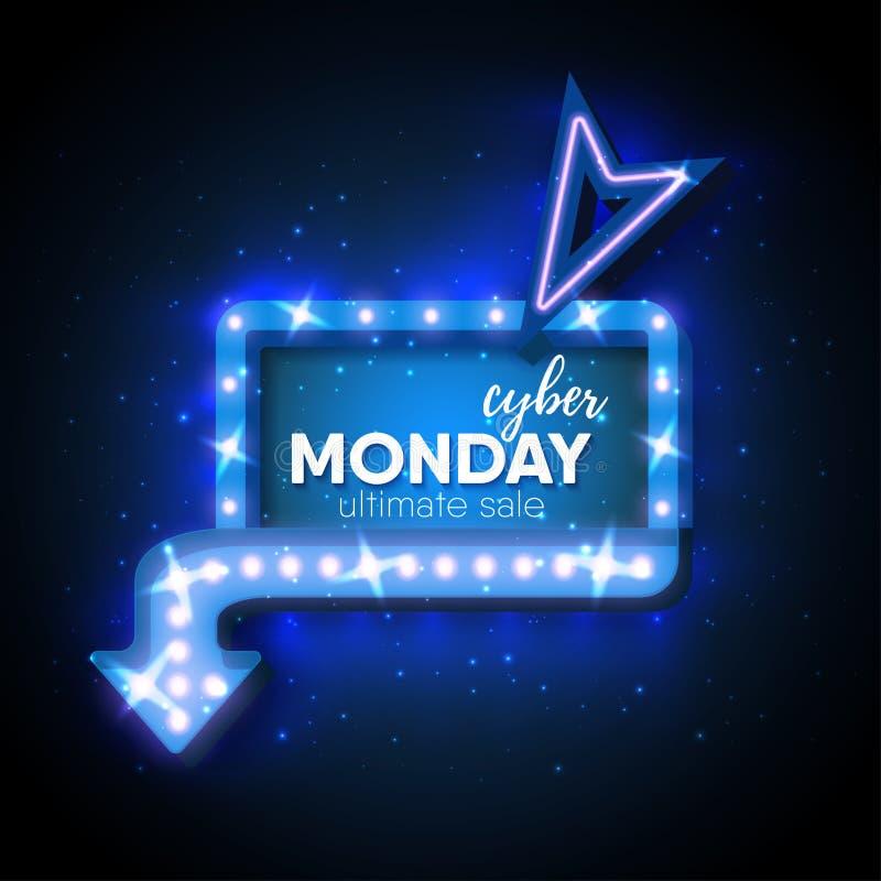 Cyber-maandag vector illustratie