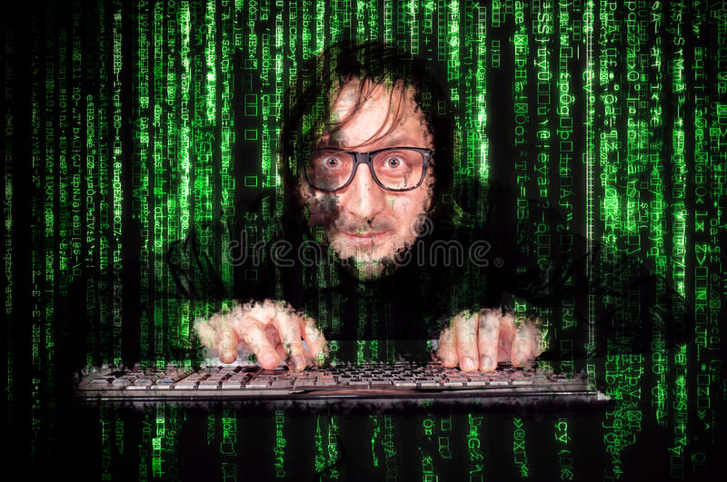 Cyber man royalty free stock photography