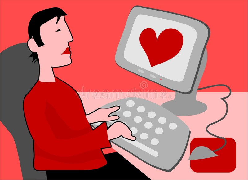 cyber - miłości. royalty ilustracja