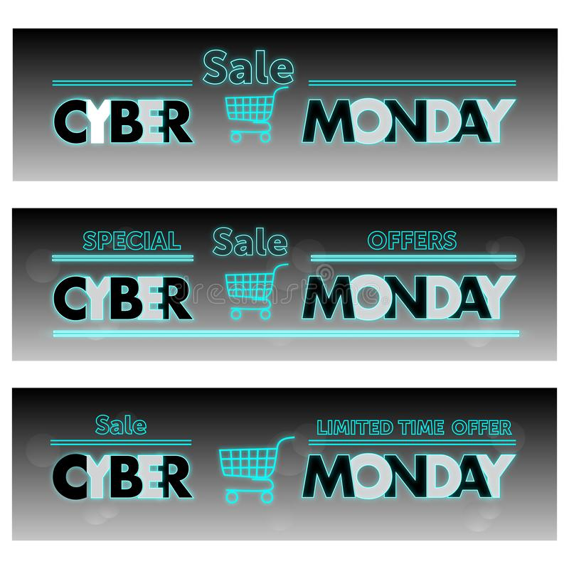 Cyber Monday Sale Label. Stock Vector. Illustration Of