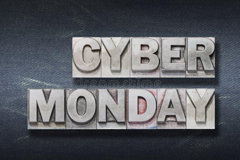 Cyber monday den stock photo