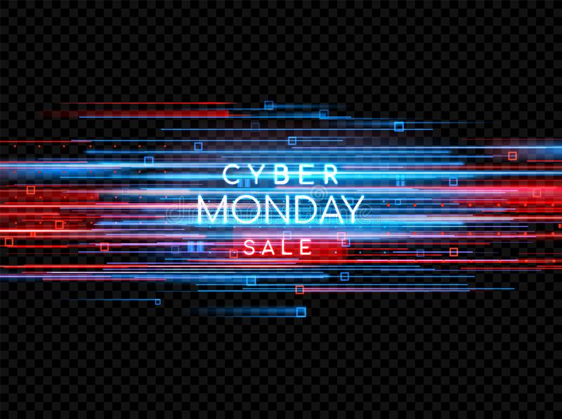 Cyber Monday. Promotional online sale event. Vector technology illustration. vector illustration