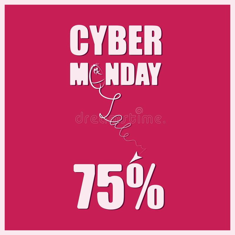 CYBER-MONDAY Sale stock illustrationer