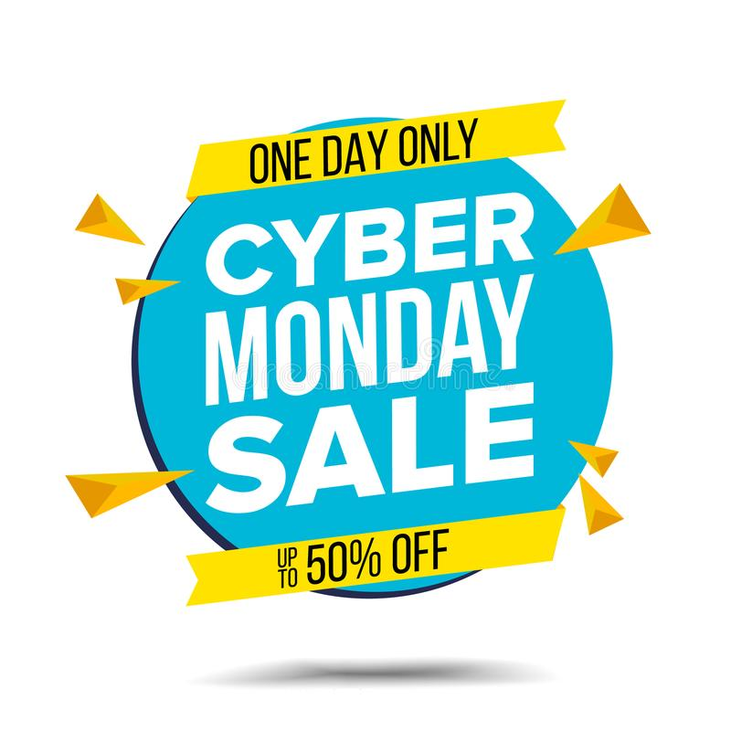 Download cyber monday sale banner vector website sticker cyber web page design big