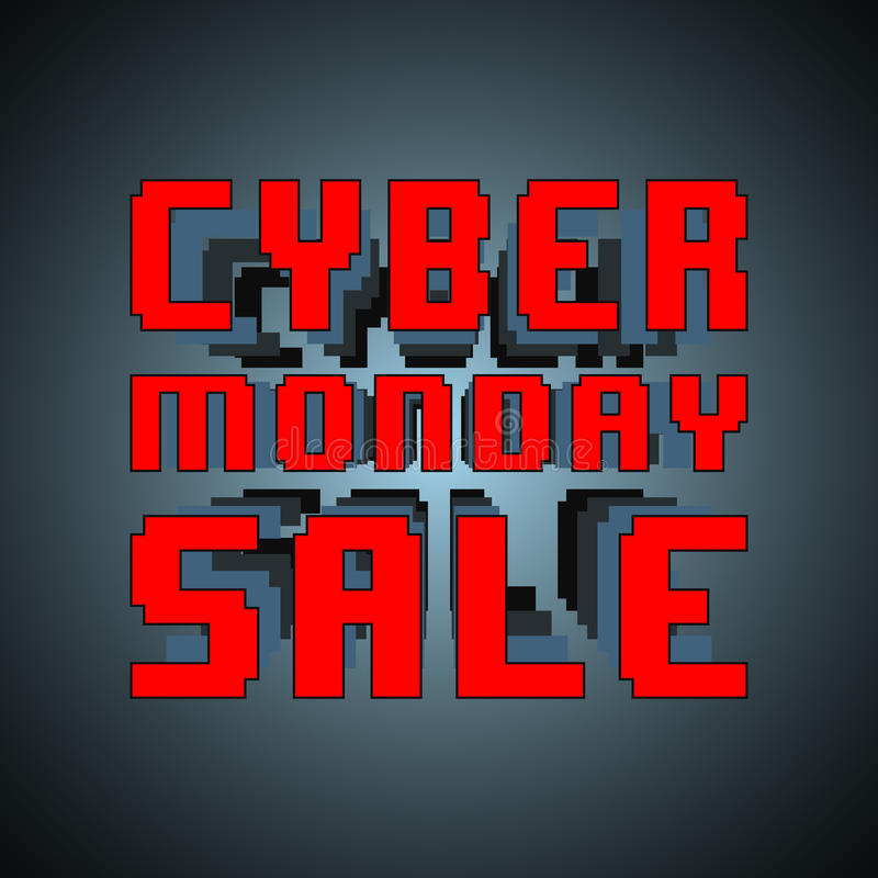 Cyber monday sale. Inscription template. Design for sale, discount, cover, banner, brochure or flyer. Vector illustration vector illustration
