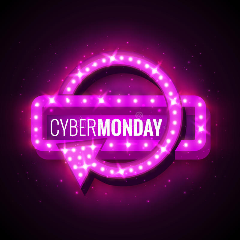 Cyber-monday stock illustration