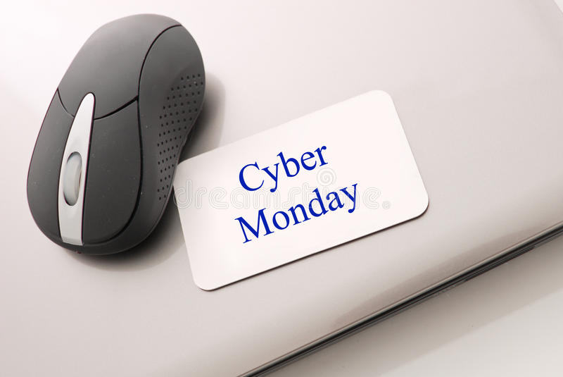 Cyber Monday Shopping stock photography