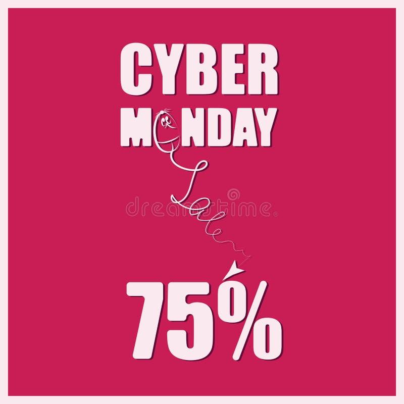 CYBER-MONDAY sprzedaż ilustracji