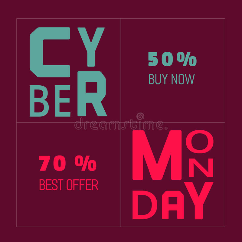 Cyber-Montag-Angebote vektor abbildung