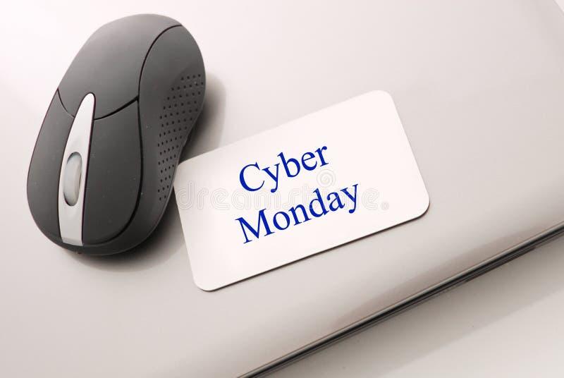 Cyber-Montag-Einkaufen stockfotografie