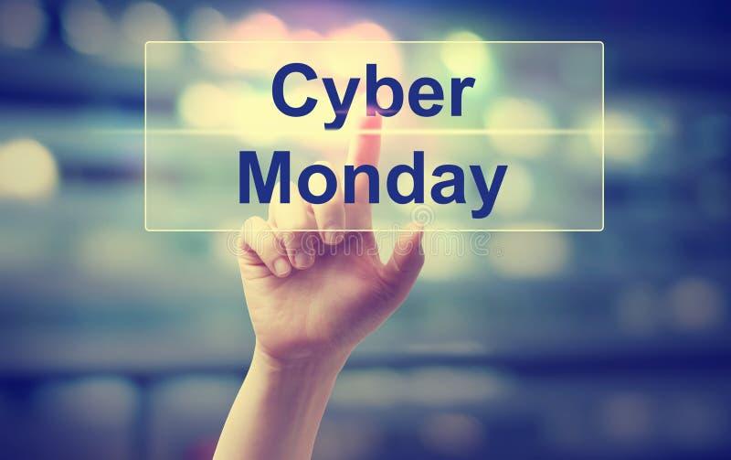 Cyber-Montag-Konzept mit der Hand stockfoto