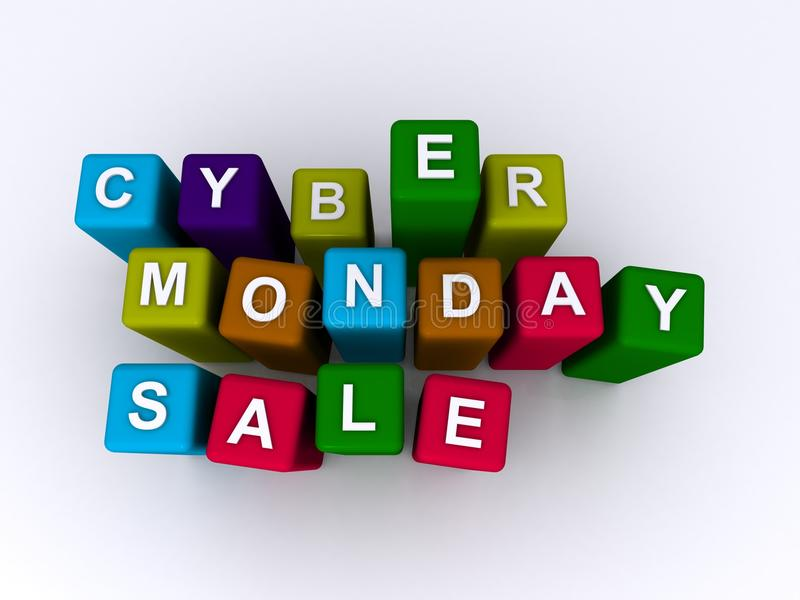 Cyber-Montag-Verkauf lizenzfreie abbildung