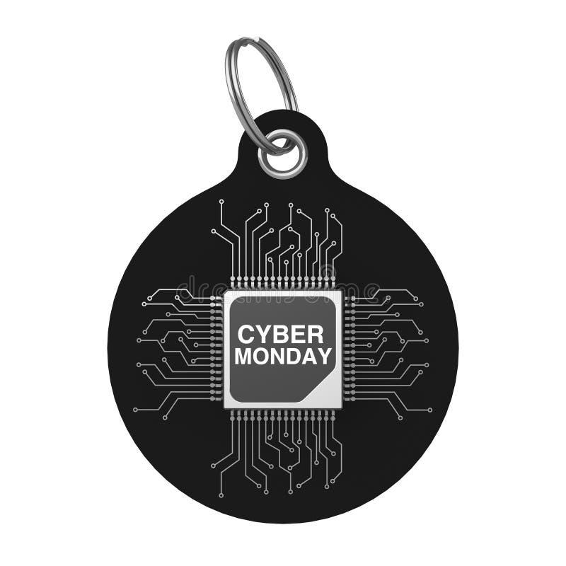 Cyber-Montag-Verkaufstag Wiedergabe 3d vektor abbildung