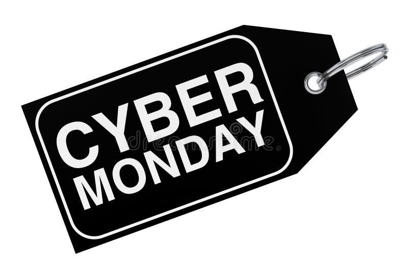 Cyber-Montag-Verkaufstag Wiedergabe 3d stock abbildung