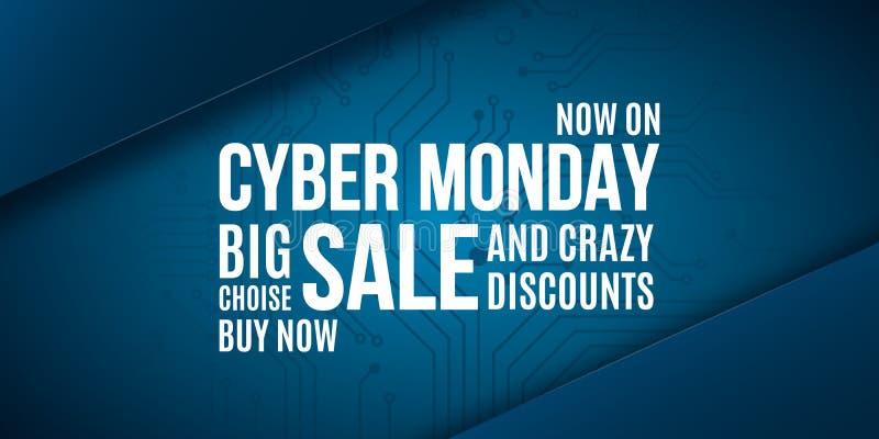 Cyber-Montag-Werbungsfahnenentwurf lizenzfreie abbildung