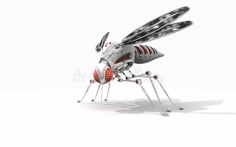 Download Cyber mosquito stock illustration. Illustration of metal - 39503658