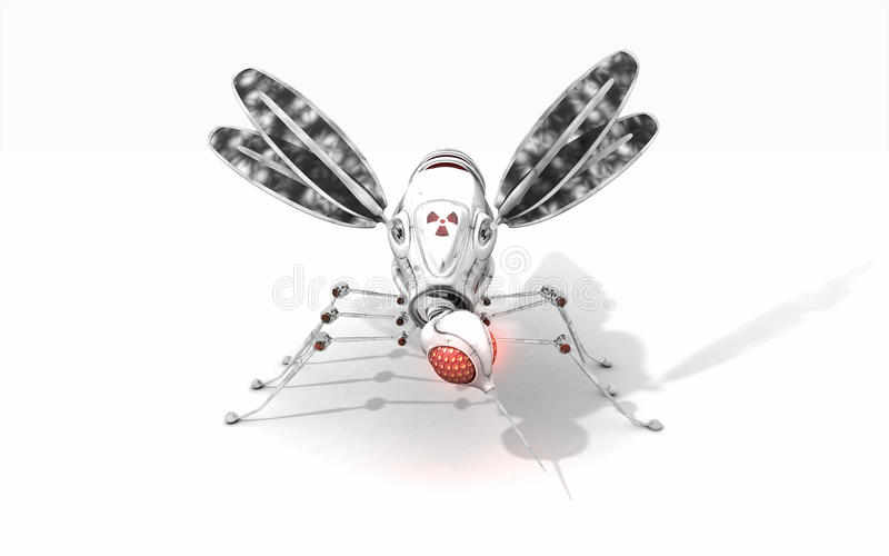Download Cyber mosquito stock illustration. Illustration of macro - 39503673