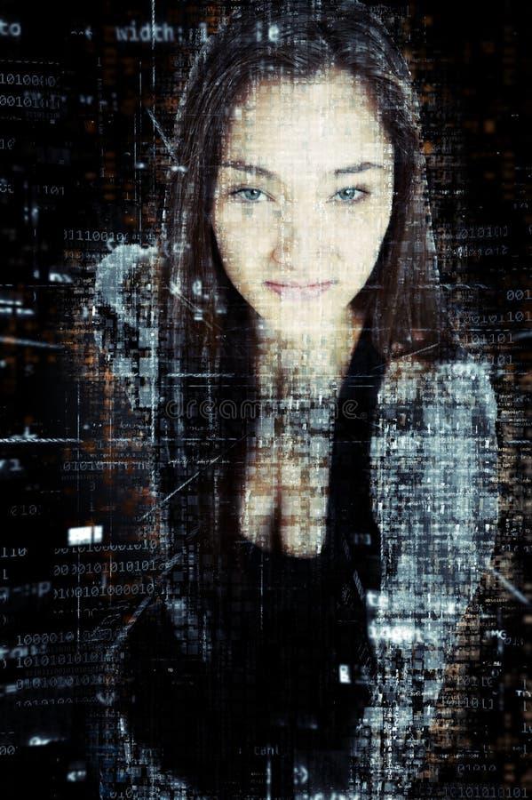Cyber ochrony b zdjęcia royalty free