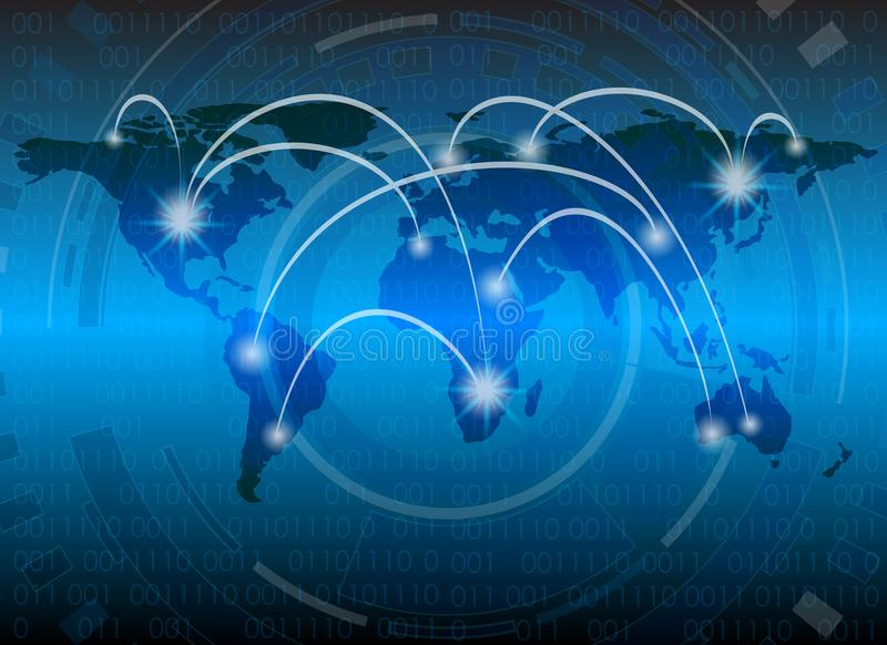 Cyber ochrony dane ochrony technologii Biznesowa prywatność ilustracja wektor