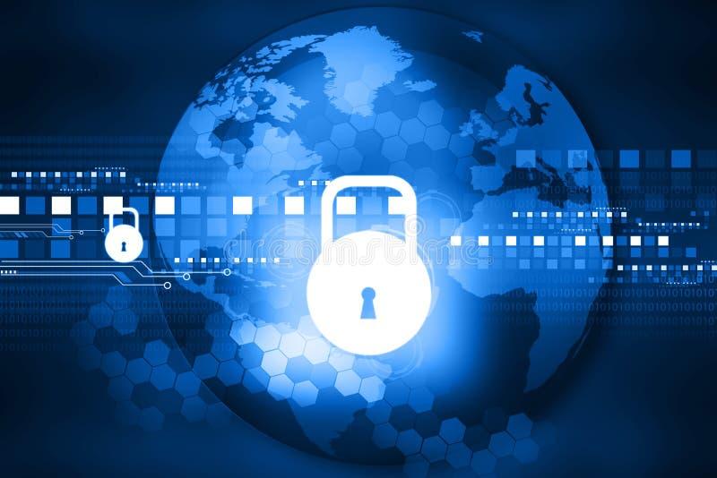 Cyber ochrony pojęcie ilustracji