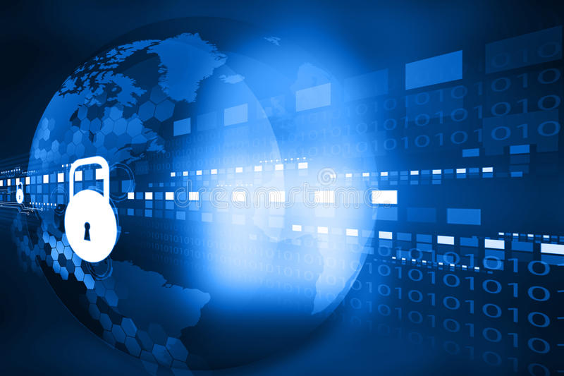 Cyber ochrony pojęcie royalty ilustracja