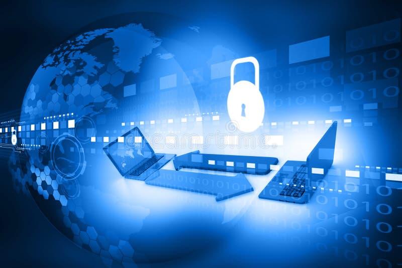 Cyber ochrony pojęcie ilustracja wektor