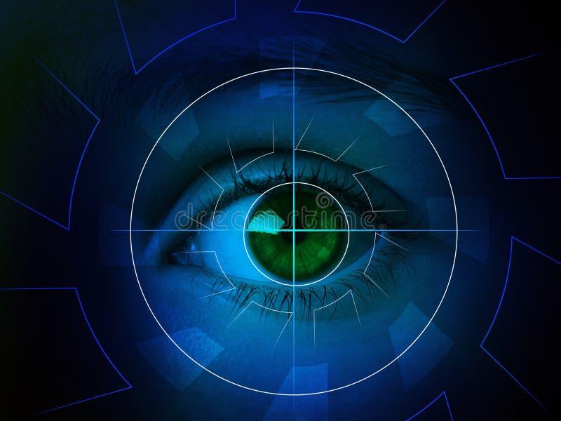 Cyber oko z len royalty ilustracja