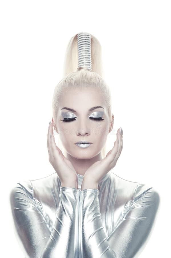 cyber piękna kobieta obrazy royalty free