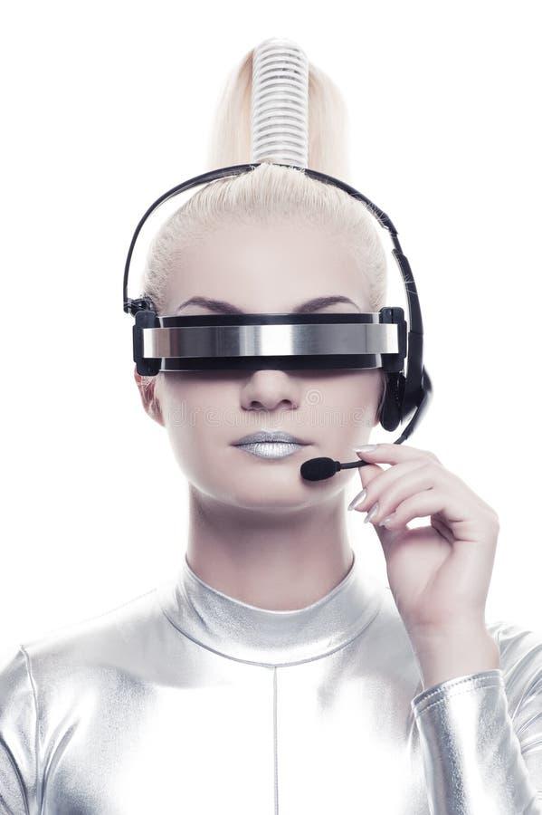 cyber piękny operator obraz royalty free