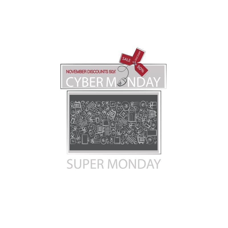 Cyber Poniedziałek SUPER prezent ilustracji