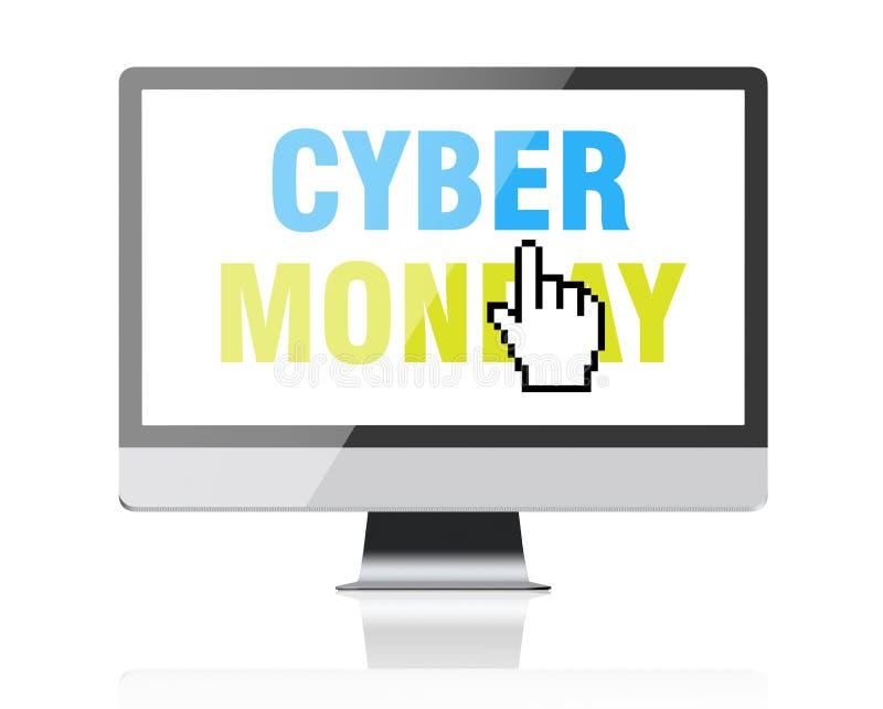 Cyber Poniedziałek - tekst na ekranie komputerowym z piksla kursorem obrazy stock