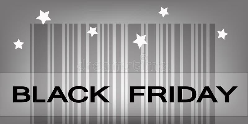 Cyber Poniedziałku Barcode dla Specjalnej ceny produktów ilustracja wektor