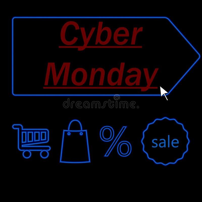 Cyber Poniedziałku inskrypcja obraz stock
