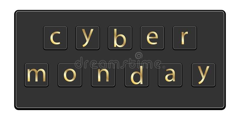 Cyber Poniedziałku inskrypcja na klawiaturze ilustracji
