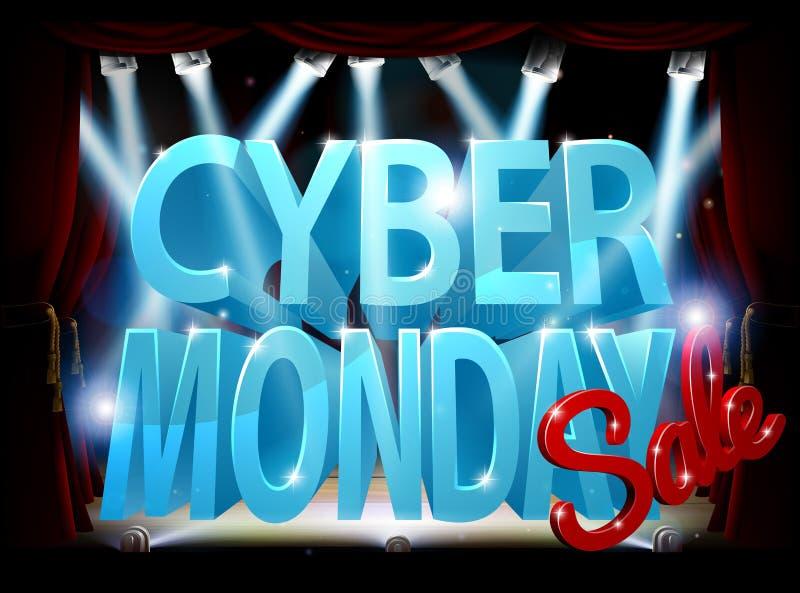 Cyber Poniedziałku sceny sprzedaży znak ilustracja wektor
