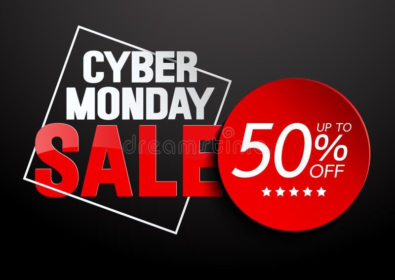Cyber Poniedziałku sprzedaż ilustracja wektor