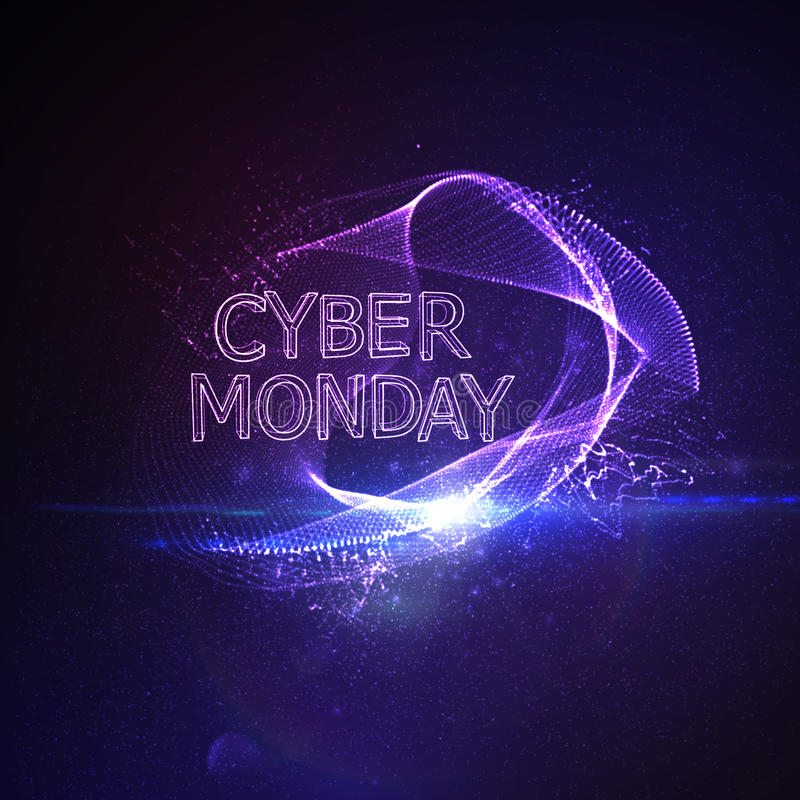 Cyber Poniedziałku sprzedaży ulotki projekta szablon ilustracji